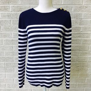 Ralph Lauren Nautical Striped Sweater Size Large